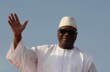 Ibrahim Boubacar Keita, em foto de 7 de julho de 2013, durante a campanha das eleições presidenciais no Mali