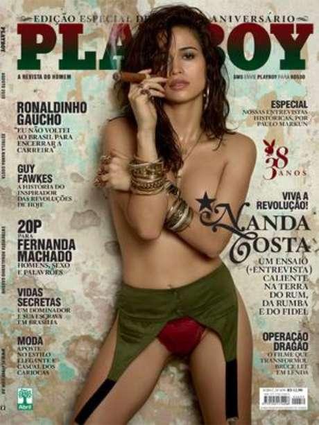 <p>A atriz Nanda Costa posou para a edição de agosto da revista Playboy</p>