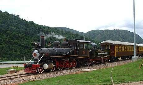 <p>Locomotiva 232, de 1920, voltou às atividades ao público no último domingo depois de dois anos</p>