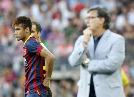<p>Neymar poderia começar jogando a decisão da Supercopa da Espanha</p>