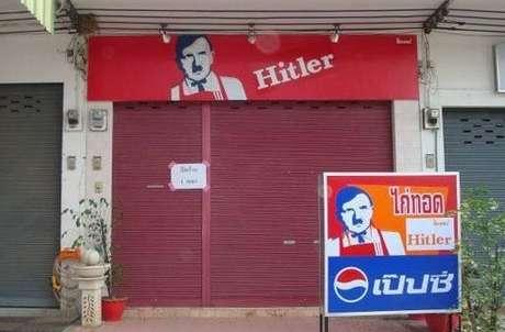 Restaurante tailandês usa a figura de Hitler em seu logo