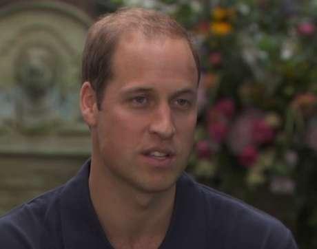 <p>William durante a entrevista com a rede americana no Palácio de Kensington</p>