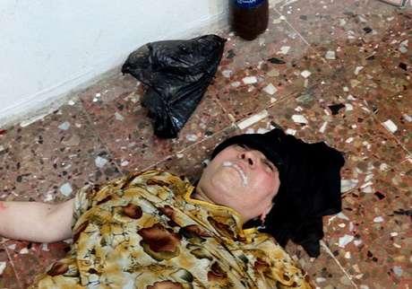 Mulher que, segundo a oposição, foi morta em ataque com gases tóxicos