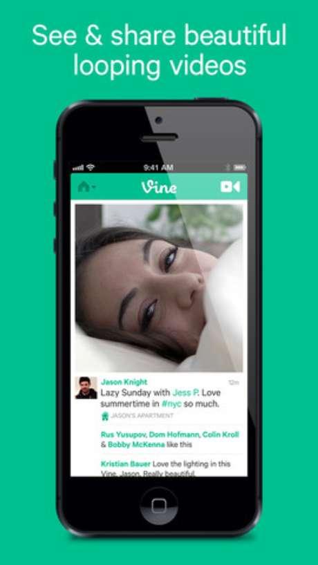 <p>Vine permite a gravação e compartilhamento de vídeos de até 6 segundos</p>
