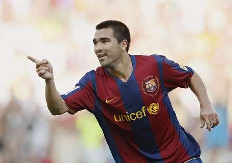 <p>Deco viveu o auge da carreira no Barcelona, entre 2004 e 2008</p>