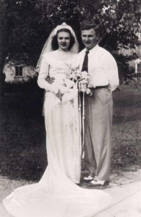 Harold e Ruth no dia do casamento