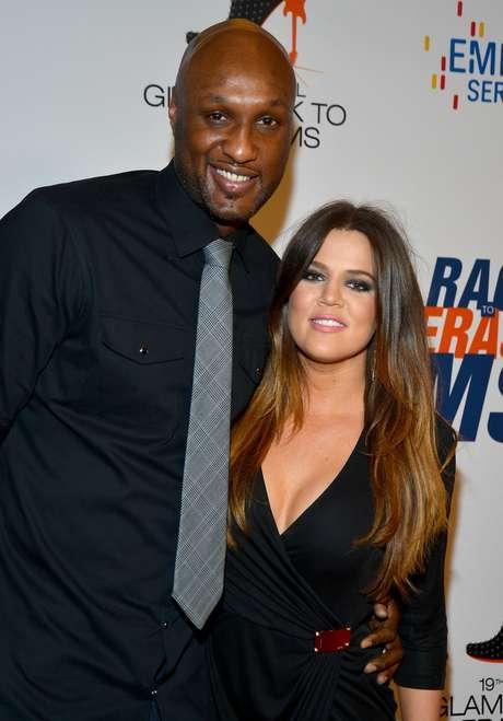 <p>Odom e Khloe Kardashian teriam brigado na semana passada</p>