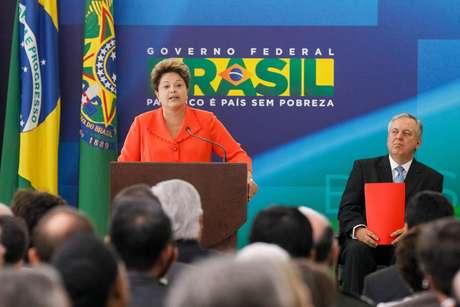A presidente Dilma Rousseff discursa na posse do ministro Luiz Alberto Figueiredo, das Relações Exteriores