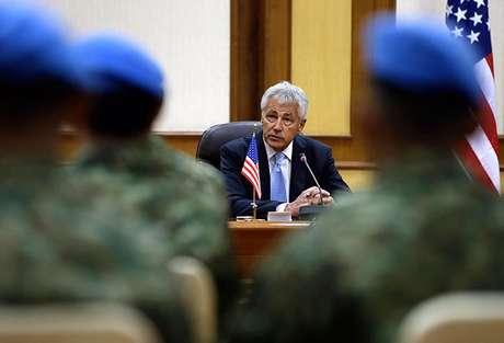<p>El secretario de Defensa de Estados Unidos, Chuck Hagel, dijo que las fuerzas militares están listas para atacar Siria inmediatamente si el presidente Barack Obama da la orden.</p>
