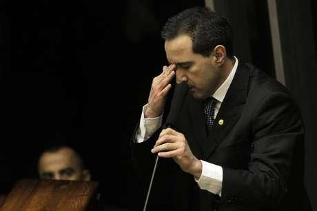 <p>Natan Donadon defendeu seu mandato na Câmara dos Deputados durante sessão que votou sobre sua cassação</p>