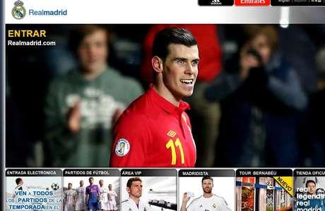 <p>La web del Madrid hace oficial el fichaje de Bale</p>