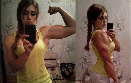 <p>Julia Vins, la joven rusa con rostro de muñeca y cuerpo musculoso.</p>