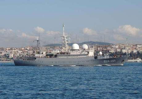 O navio russo SSV-201 em imagem de arquivo