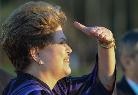 Dilma no Palácio do Alvorada nesta segunda-feira