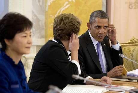 Em meio a tensão por espionagem, presidentes Dilma Rousseff e Barack Obama sentam lado a lado em reunião do G20 na Rússia