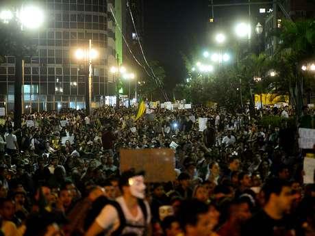 <p>Segundo pesquisa,21% da população da capital paulista desaprova os protestos</p>