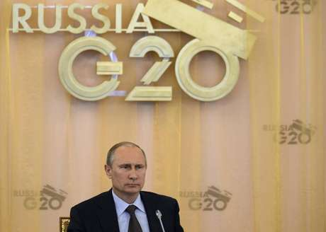 Presidente russo Vladimir Putin é visto durante a cúpula do G20, na Rússia. Putin disse nesta sexta-feira após reunião com Barack Obama que o presidente dos Estados Unidos não pediu a extradição do ex-prestador de serviço de uma agência de espionagem dos EUA Edward Snowden, que está temporariamente asilado na Rússia. 06/09/2013