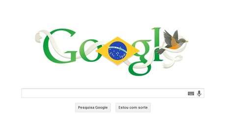 Google prestou homenagem ao Dia da Independência do Brasil