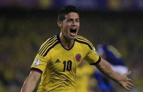 <p>James Rodríguez fez o único gol do confronto disputado em Barranquilla</p>