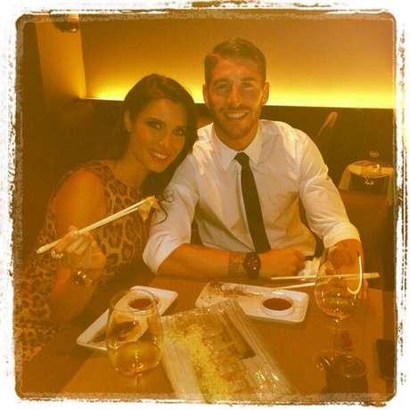 La foto que colgó Sergio Ramos cenando en un restaurante japonés