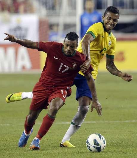 <p>Nani comandou o setor ofensivo de Portugal, mas não conseguiu brilhar contra a Seleção Brasileira</p>