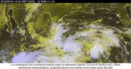 Ingrid, la novena tormenta tropical de la temporada de huracanes en el Atlántico, presentaba vientos sostenidos de 75 kilómetros por hora.