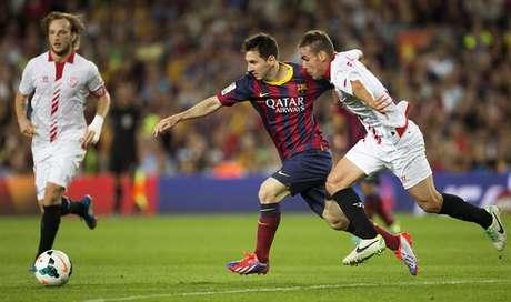 Messi durante el partido ante el Sevilla