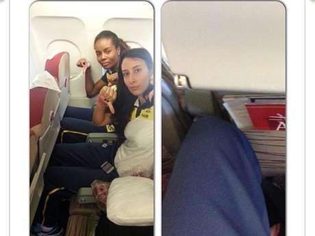 Sheilla e Fabiana fizeram duras críticas à CBV após terem de viajar de classe econômica para o Peru