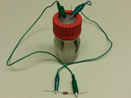 Cientistas desenvolveram uma espécie de bateria que aproveita as características de um micro-organismo em produzir energia ao digerir resíduos dissolvidos no esgoto