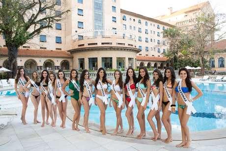 <p>Candidatas ao título de Miss Brasil 2013</p>