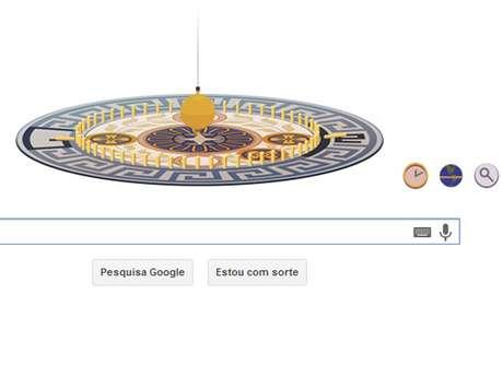 <p>Léon Foucault criou o Pêndulo de Foucault, mostrado no doodle do Google</p>