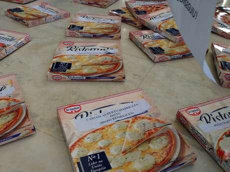 Pizzas foram barradas pela segurança do STF