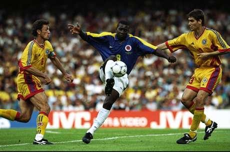 Valencia durante el Mundial 98. Es el quinto goleador de la selección con 17 tantos.