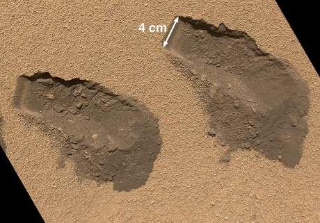 Curiosity recolheu amostras do solo de Marte