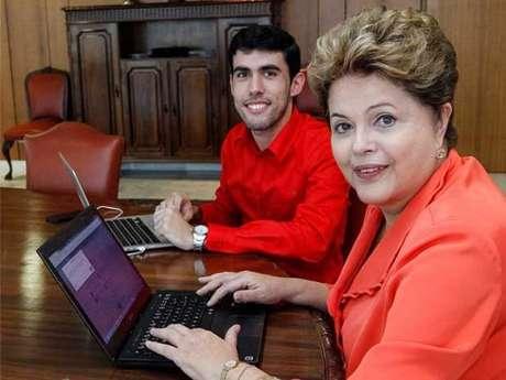 Presidente recebeu Jefferson Monteiro, criador do perfil Dilma Bolada