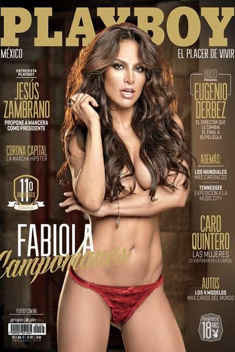 <p>Fabiola Campomanes regresa en octubre de 2013 a la portada de Playboy, en donde muestra más erotismo para dejar un número de colección en el que la actriz asegura es su último desnudo para una revista masculina.</p>