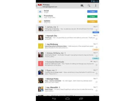 <p>App do e-mail do Google foi atualizado recentemente para exibir anúncios como versão web do serviço</p>