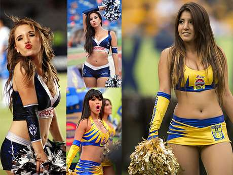 <p>The Tigres and Rayados cheerleaders are some of the most beautiful in the Mexican league. </p>
