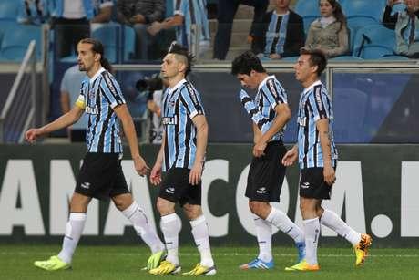 <p>Paraguaio foi o responsável por marcar o gol da vitória gremista sobre o Atlético-PR</p>
