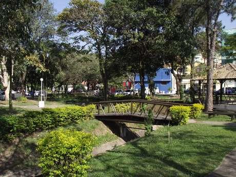 <p>Áreas verdes ocupam 41% da cidade</p>