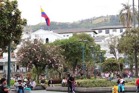 <p>Praça da Independência, no centro histórico de Quito</p>