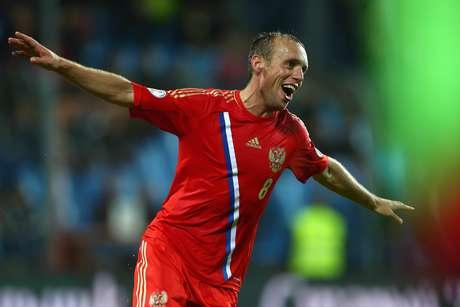 <p>Glushakov fez um dos gols da vitória russa sobre Luxemburgo</p>