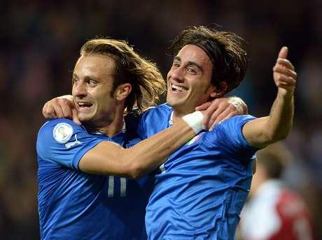 <p>Itália conseguiu empate nos acréscimos do segundo tempo fora de casa</p>