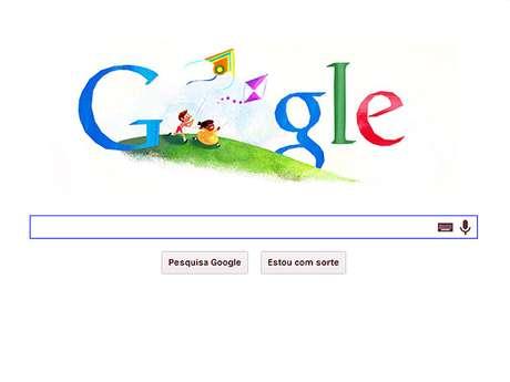 <p>Dia das Crianças é celebrado pelo Google em sua página inicial</p>