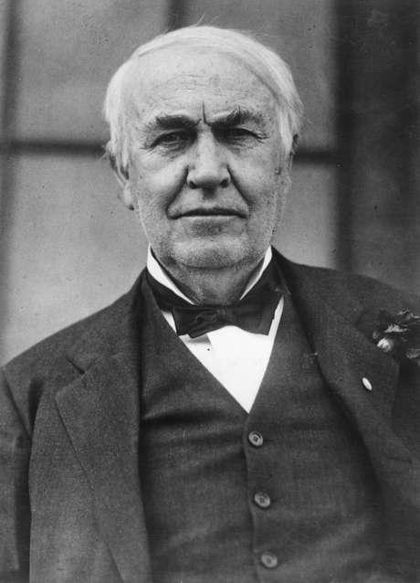 <p>O inventor Thomas Alva Edison (1847 - 1931)</p>