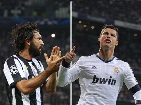 Andrea Pirlo y Cristiano Ronaldo, dos figuras mundiales que chocarán en el Santiago Bernabéu