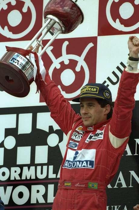 <p>Com um carro menos competitivo que as Williams, Senna venceu o GP do Japão (foto) antes de chegar à Austrália; em Sydney, foi pole e venceu pela última vez na carreira</p>