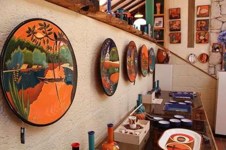 <p>Peças de cerâmica produzidas pelocuencano Eduardo Vega</p>