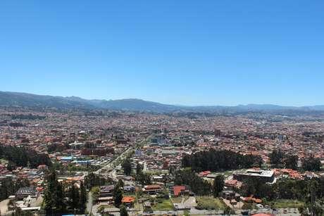 Vista do mirante de Turi, no sul de Cuenca