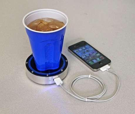 Tecnologia recarrega celular a partir da temperatura de bebidas